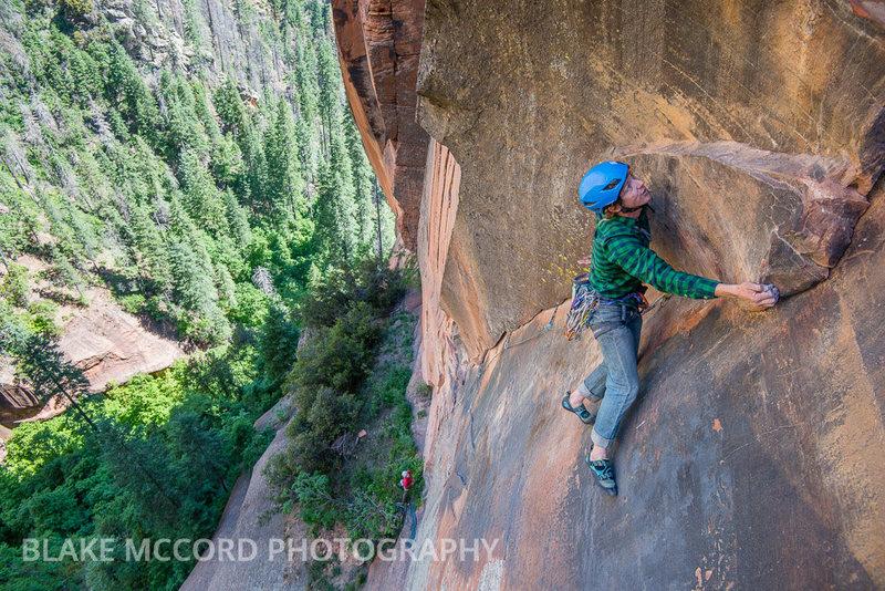 Rock Climbing Photo: Zach Harrison on the First Pitch  Photo Blake McCo...