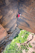 Rock Climbing Photo: Jeff Snyder on the start of the 4th pitch  Photo B...
