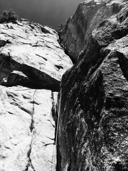 Bobathan Reinig with his FA of the Mossy Mcflurry Dihedral 5.9, on the Second Terrace!!