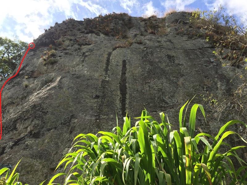 Rock Climbing Photo: Ze route