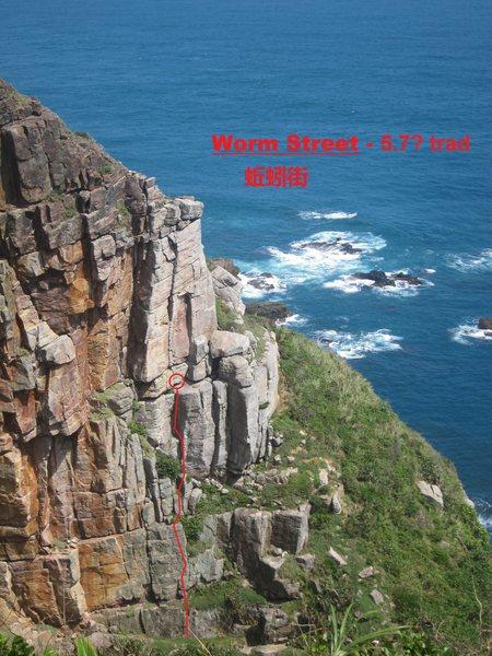 Rock Climbing Photo: Worm Street topo