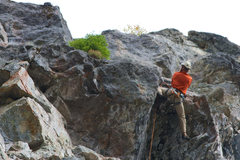 "Rock Climbing Photo: Pulling through the roof on ""N"". Photo C..."