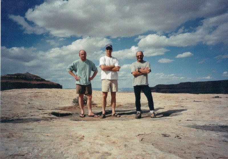 The lads top of Lost World Butte .. Near Moab