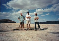 Rock Climbing Photo: The lads top of Lost World Butte .. Near Moab
