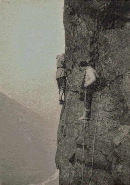 Rock Climbing Photo: With Des Oliver .. 1954