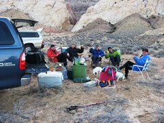 Rock Climbing Photo: Camp in the San Rafael Swell 2013