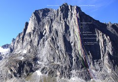Rock Climbing Photo: The 2,700' northeast face of the Sundial known as ...