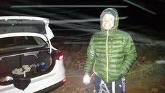 Rock Climbing Photo: 3 AM, Snowing, Black Velvet parking lot