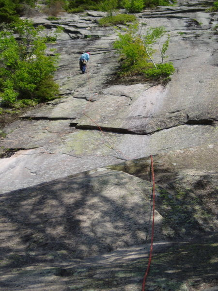 "At P1 Belay of ""5.6 Variation"""