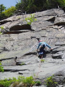"""Rock Climbing Photo: Headed up P3 (back on """"mainline"""" route)[..."""