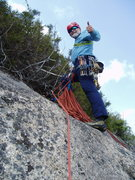 Rock Climbing Photo: At the top! (end P5)