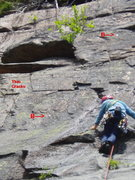 Rock Climbing Photo: Blow-Up of P3 area