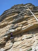 Rock Climbing Photo: Joan climbing Eagle Ease