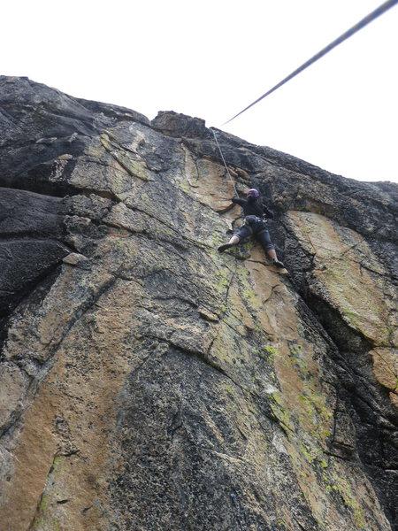 Rock Climbing Photo: Joan on Euphoria