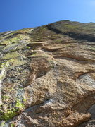 Rock Climbing Photo: Looking up from the lower section of Shangri La