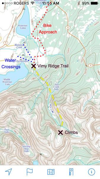 Rock Climbing Photo: Approach details