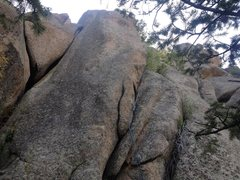 """Rock Climbing Photo: The climb and the """"y"""" on the left."""
