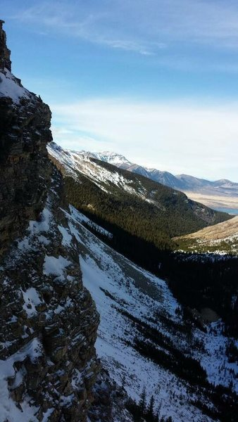 Rock Climbing Photo: Looking back out towards Waterton Lakes and the ap...
