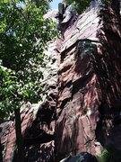 Rock Climbing Photo: The rope runs right up Basswood Crack.