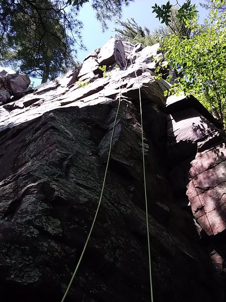 Rope running up Box Top route.