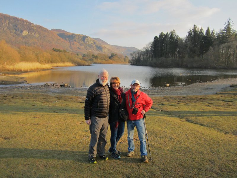 With Chris and Loreto  Derwentwater UK