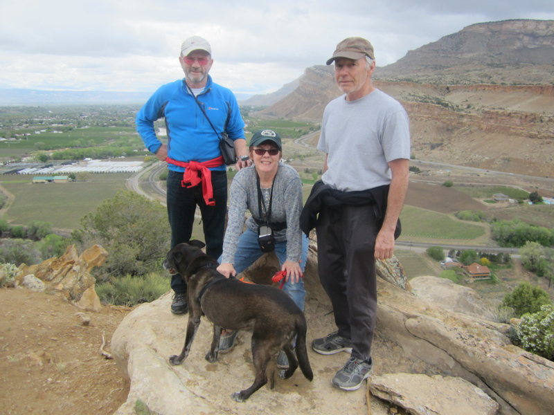 With Carol and Gene above Palisade 2015