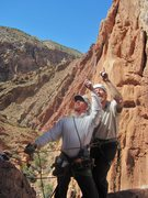 Rock Climbing Photo: Andy and Gene .. FA Sandstone Alps 2015