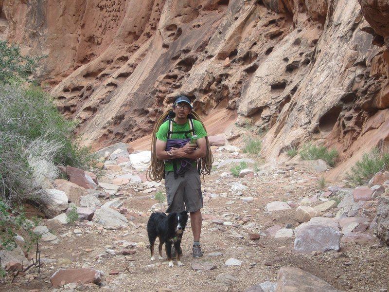 Rock Climbing Photo: Shingo and his dog