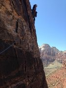 Rock Climbing Photo: My first route in Zion. Ashtar Command