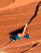 Rock Climbing Photo: Lightening Bolt Crack