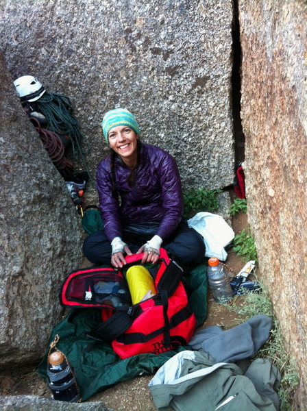 Hanging out on the Two Boulder Bivy