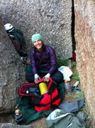 Rock Climbing Photo: Hanging out on the Two Boulder Bivy