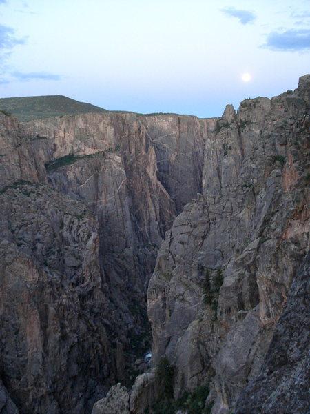 "Rock Climbing Photo: ""The Super Moon"" raising over The Black"