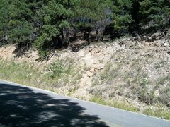 Rock Climbing Photo: The trail to Southpark. Starts 1/2 mile after the ...