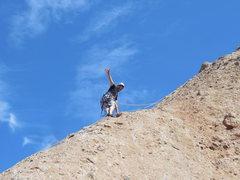 "Rock Climbing Photo: Enjoying an ascent of ""Rainy Day Woman."""