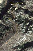 Rock Climbing Photo: Approach Map