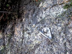Rock Climbing Photo: There are two belay bolts at the base of Borderlin...