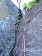 Rock Climbing Photo: The corner on the second half of Pitch 1 of Border...