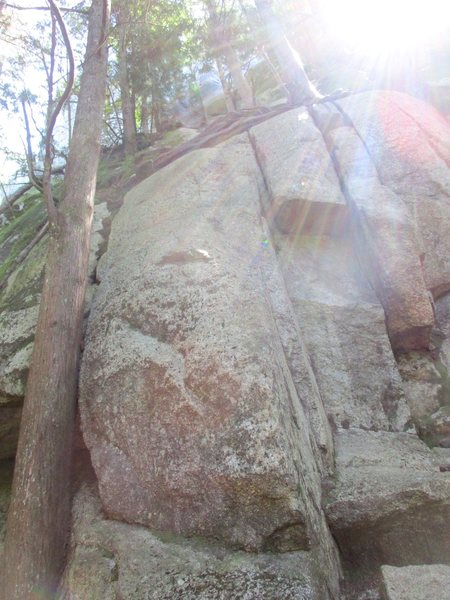 Rock Climbing Photo: Pitch 1 of Calculus Crack / St. Vitus' Dance.