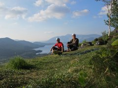 Rock Climbing Photo: With Alan Hinkes top of Black Crag . Borrowdale .....