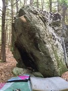 Rock Climbing Photo: The boulder. This face looks at the road