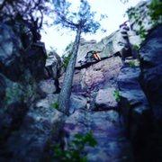 Rock Climbing Photo: The crux of Barn Dance.