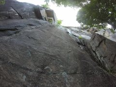 Rock Climbing Photo: The bolts are far from each other!