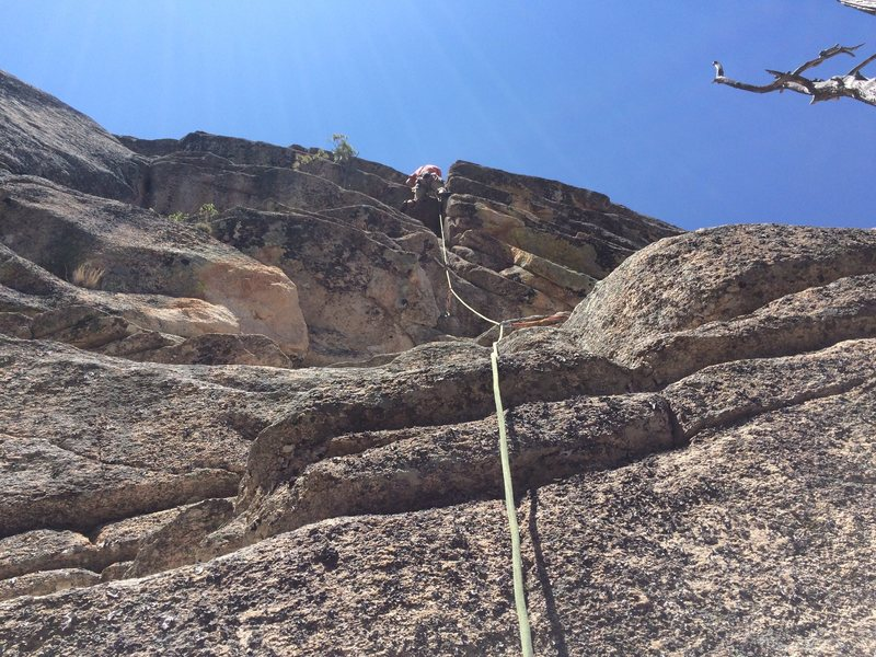 Rock Climbing Photo: Paul Z on the 2nd pitch. Steeper and more burly th...
