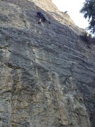 Rock Climbing Photo: Malcolm nabbing the FA of:  What is Your Weakness?