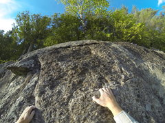 Rock Climbing Photo: Direct finish, this is not in the old guidebook an...