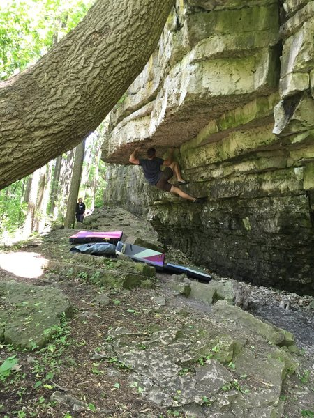 Rock Climbing Photo: Crux move, this one is pretty darn cool.