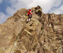 Rock Climbing Photo: On the top pitch.