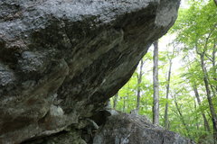 Rock Climbing Photo: The side view of the overhang