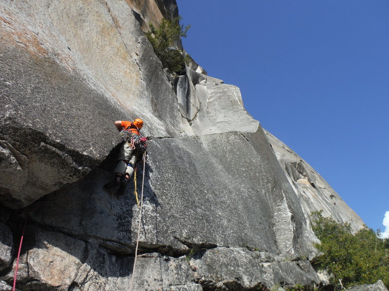 Rock Climbing Photo: Starting pitch 1
